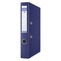 Binder DONAU Master-S with reinforced edge, PP, A4/50mm, navy blue