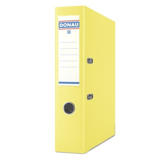 Segregator DONAU Premium, PP, A4/75mm, żółty, Segregatory polipropylenowe, Archiwizacja dokumentów