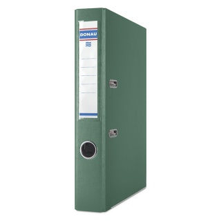 Segregator DONAU Premium, PP, A4/50mm, zielony, Segregatory polipropylenowe, Archiwizacja dokumentów