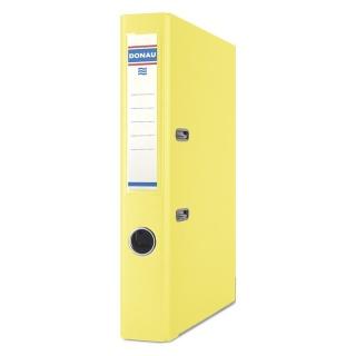 Segregator DONAU Premium, PP, A4/50mm, żółty, Segregatory polipropylenowe, Archiwizacja dokumentów