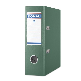 Segregator DONAU Master, PP, A5/75mm, zielony, Segregatory polipropylenowe, Archiwizacja dokumentów