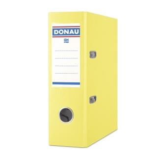 Segregator DONAU Master, PP, A5/75mm, żółty, Segregatory polipropylenowe, Archiwizacja dokumentów