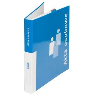 Segregator ringowy DONAU do akt osobowych, tekturowy, A4/2R/20mm, niebieski, Segregatory ringowe, Archiwizacja dokumentów