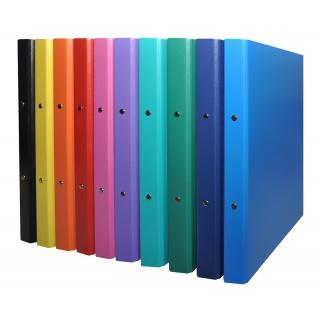 Segregator ringowy DONAU, PP, A4/2R/20mm, mix kolorów, Segregatory ringowe, Archiwizacja dokumentów