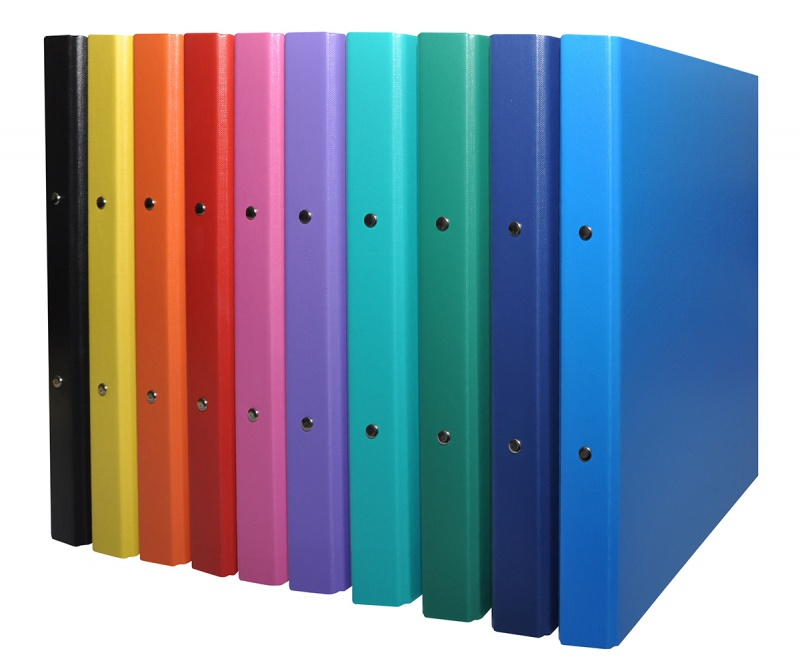 Ring Binder DONAU, PP, A4/2R/20mm, assorted colours