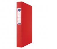 Segregator ringowy DONAU, PP, A4/2R/25mm, czerwony, Segregatory ringowe, Archiwizacja dokumentów
