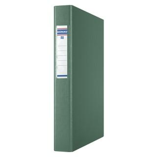 Segregator ringowy DONAU, PP, A4/4R/25mm, zielony, Segregatory ringowe, Archiwizacja dokumentów