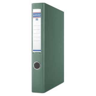 Segregator ringowy DONAU, PP, A4/4RD/30mm, zielony, Segregatory ringowe, Archiwizacja dokumentów