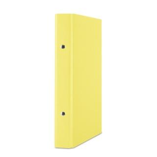 Segregator ringowy DONAU, PP, A5/2R/20mm, żółty, Segregatory ringowe, Archiwizacja dokumentów