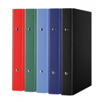 Ring Binder DONAU, PP, A5/2R/20mm, assorted colours