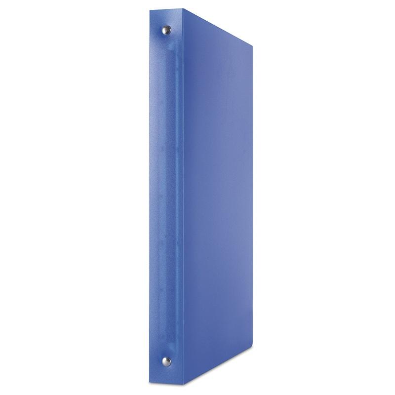Ring Binder PP A4/4R/25mm transparent blue