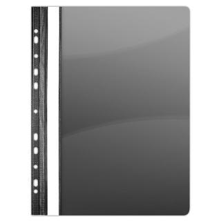 Skoroszyt DONAU, PVC, A4, twardy, 150/160mikr., wpinany, czarny, Skoroszyty do segregatora, Archiwizacja dokumentów