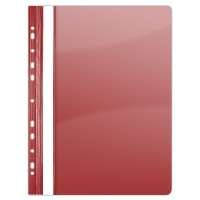 Report File DONAU, PVC, A4, hard, 150/160 micron, perforated, red