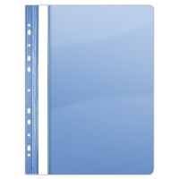 Report File PVC A4 hard 150/160 micron perforated blue