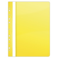 Report File DONAU, PVC, A4, hard, 150/160 micron, perforated, yellow