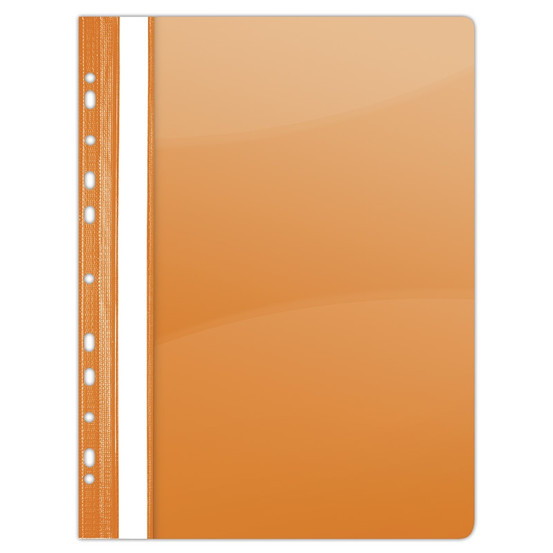 Report File PVC A4 hard 150/160 micron perforated orange
