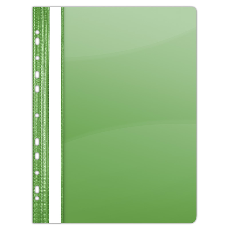 Report File DONAU, PVC, A4, hard, 150/160 micron, perforated, green