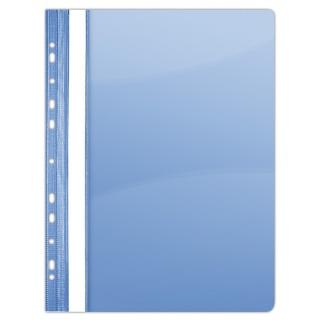 Skoroszyt DONAU, PVC, A4, twardy, 150/160mikr., wpinany, niebieski, Skoroszyty do segregatora, Archiwizacja dokumentów