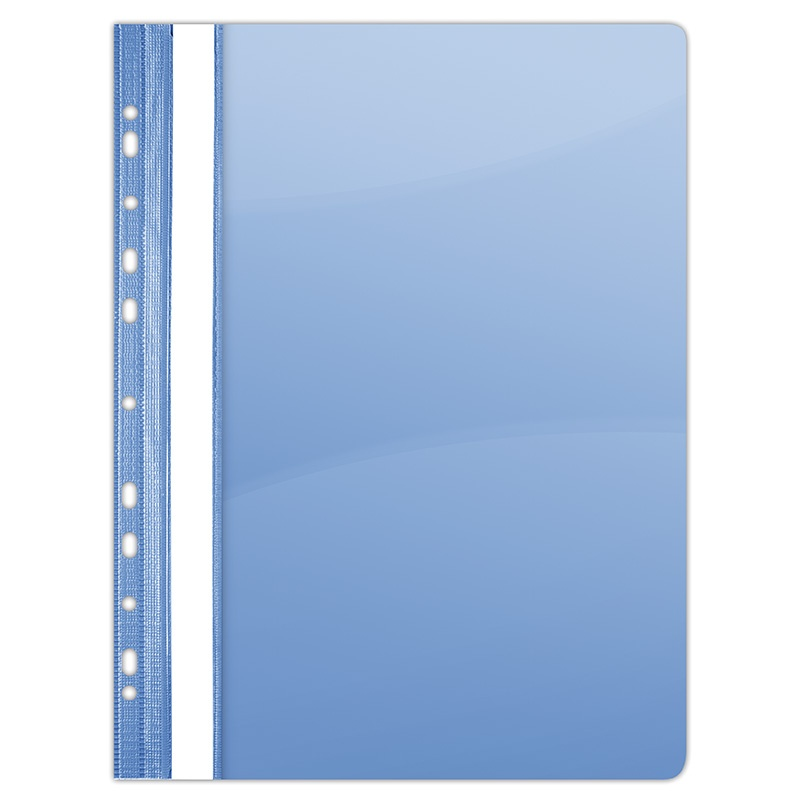 Report File DONAU, PVC, A4, hard, 150/160 micron, perforated, blue
