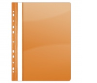 Report File DONAU, PVC, A4, hard, 150/160 micron, perforated, orange