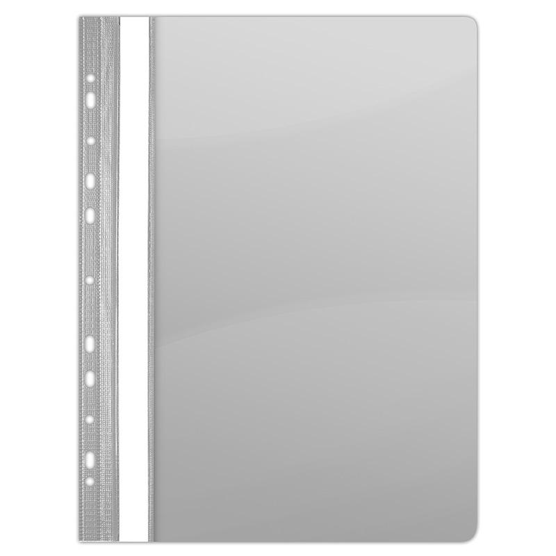 Skoroszyt DONAU, PVC, A4, twardy, 150/160mikr., wpinany, szary, Skoroszyty do segregatora, Archiwizacja dokumentów