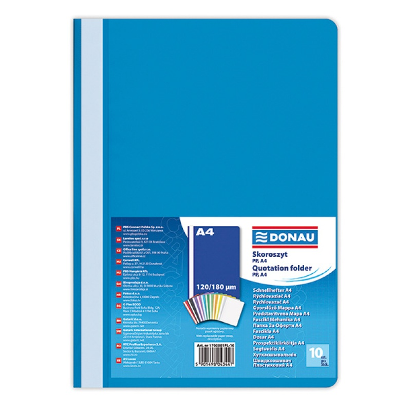 Report File PP A4 standard 120/180 micron blue
