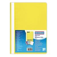 Skoroszyt DONAU, PP, A4, standard, 120/180mikr., żółty