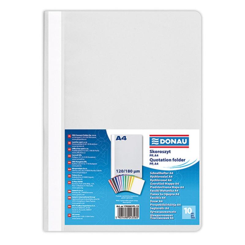 Report File DONAU, PP, A4, standard, 120/180 micron, grey