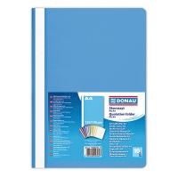Skoroszyt DONAU, PP, A4, standard, 120/180mikr., jasnoniebieski