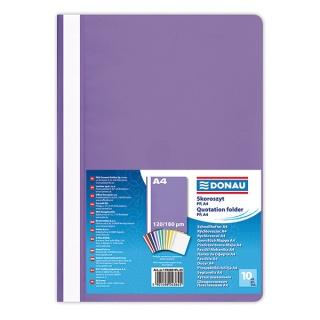 Skoroszyt DONAU, PP, A4, standard, 120/180mikr., fioletowy, Skoroszyty podstawowe, Archiwizacja dokumentów