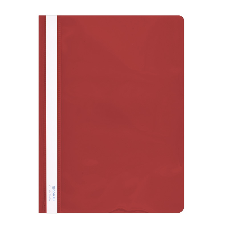 Report File DONAU, PVC, A4, hard, 150/160 micron, red