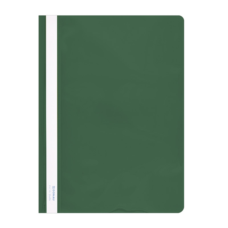 Report File DONAU, PVC, A4, hard, 150/160 micron, green