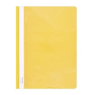 Skoroszyt DONAU, PVC, A4, twardy, 150/160mikr., żółty, Skoroszyty podstawowe, Archiwizacja dokumentów