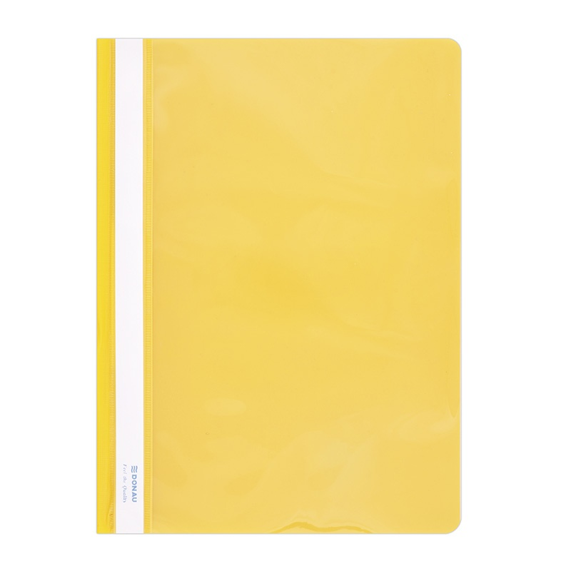 Report File DONAU, PVC, A4, hard, 150/160 micron, yellow