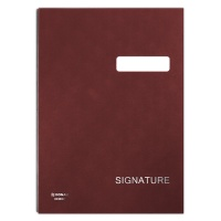 Signature Book DONAU, cardboard/PP, A4, 450gsm, 20 compartments, claret
