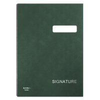 Signature Book DONAU, cardboard/PP, A4, 450gsm, 20 compartments, green