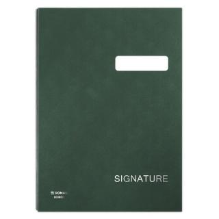 Teczka do podpisu DONAU, karton/PP, A4, 450gsm, 20-przegr., zielona, Teczki do podpisu i korespondencyjne, Archiwizacja dokumentów