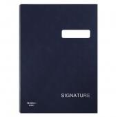 Teczka do podpisu DONAU, karton/PP, A4, 450gsm, 20-przegr., granatowa, Teczki do podpisu i korespondencyjne, Archiwizacja dokumentów
