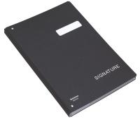 Teczka do podpisu DONAU, karton, A4, 450gsm, 20-przegr., czarna, Teczki do podpisu i korespondencyjne, Archiwizacja dokumentów