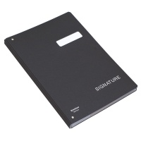 Signature Book DONAU, cardboard, A4, 450gsm, 20 compartments, black