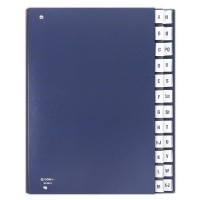 Correspondence Log Book cardboard A4 A-Z navy blue