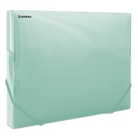 Elasticated Expanding File DONAU, PP, A4/30, 700 micron, transparent green