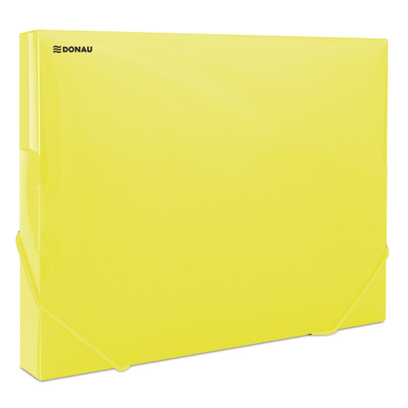 Elasticated Expanding File DONAU, PP, A4/30, 700 micron, transparent yellow