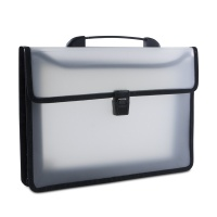 Two-compartment Briefcase DONAU, PP, A4, with handle, clear