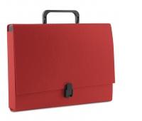 Teczka-pudełko DONAU, PP, A4/5cm, z rączką i zamkiem, czerwona, Teczki przestrzenne, Archiwizacja dokumentów