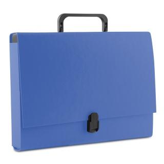 Teczka-pudełko DONAU, PP, A4/5cm, z rączką i zamkiem, niebieska, Teczki przestrzenne, Archiwizacja dokumentów
