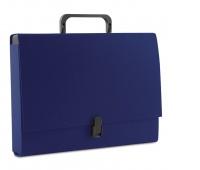 Teczka-pudełko DONAU, PP, A4/5cm, z rączką i zamkiem, granatowa, Teczki przestrzenne, Archiwizacja dokumentów