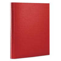 File, velcro fastening, DONAU, PP, A4/3. 5cm, 3 flaps, red