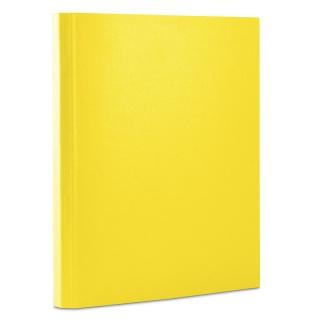 Teczka z rzepem DONAU, PP, A4/3,5cm, 3-skrz., żółta
