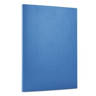 Teczka z rzepem DONAU, PP, A4/1,5cm, 3-skrz., niebieska